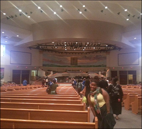 Another huge church. This one in Houston, Texas.  My friend Q. Smith from the last production of Les Miserables is also on tour with me.