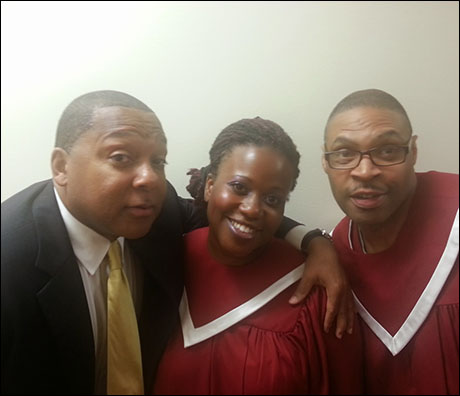 Sharing a fun moment with my friends Q. Smith and Marvin Lowe. Wynton Marsalis is such a down to earth guy. We hang with him all the time.
