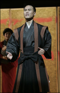 B.D. Wong in the 2004 revival of <i>Pacific Overtures</i>