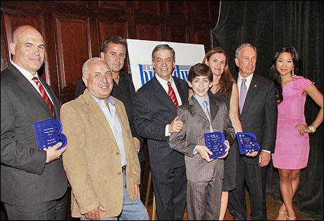 Harry Coghlan, Jack Brucarelli, Anthony LaPaglia, Michael Presser, Jacob Clemente, Cristyne L. Nicholas, Mayor Michael Bloomberg and Julie Chang