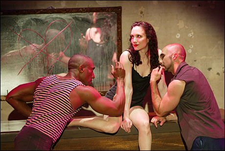 Gregory Butler, Bebe Neuwirth and Shawn Emamjomeh in Here Lies Jenny
