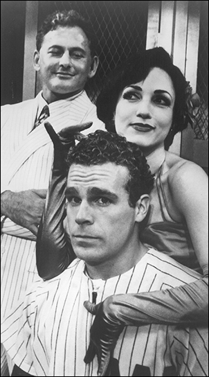 Victor Garber, Bebe Nuewirth and Jere Shea in Damn Yankees