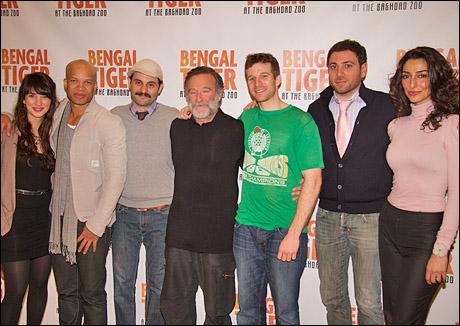 Sheila Vand, Glenn Davis, Arian Moayed, Robin Williams, Brad Fleischer, Hrach Titizian and Necar Zadegan
