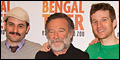 Robin Williams and Cast of Bengal Tiger at the Baghdad Zoo Meet the Press