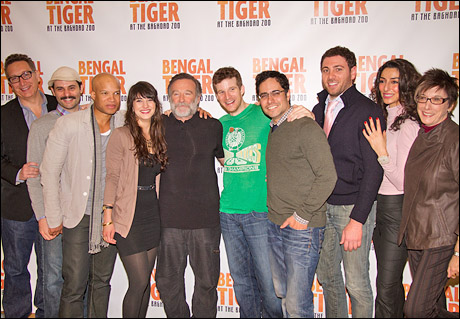 Moisés Kaufman, Arian Moayed, Glenn Davis, Sheila Vand, Robin Williams, Brad Fleischer, Rajiv Joseph, Hrach Titizian, Necar Zadegan and Robyn Goodman