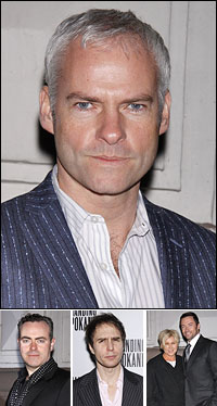 Playwright Martin McDonagh; director John Crowley, co-star Sam Rockwell and guests Deborra-Lee Furness and Hugh Jackman