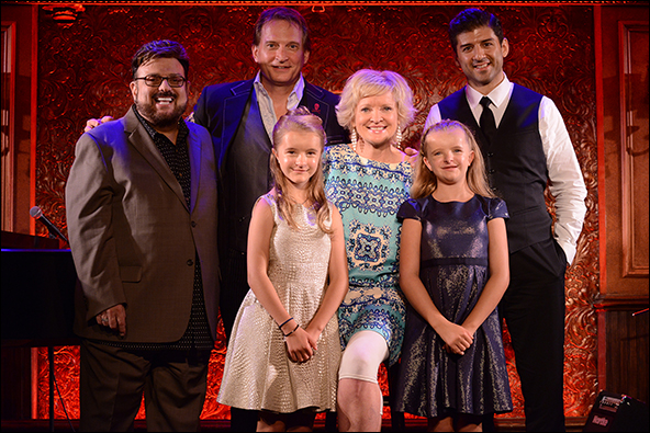 Louis St. Louis, Rex Smith, Abigail & Milly Shapiro, Christine Ebersole and Tony Yazbeck