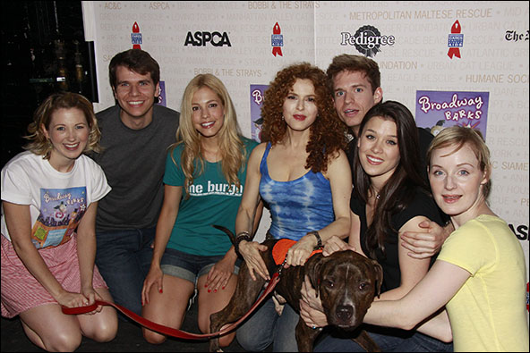 Sara Jean Ford, Kevin David Thomas, Leigh Ann Larkin, Bernadette Peters, Hunter Ryan Herdlicka, Ramona Mallory and Erin Davie, 2010