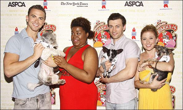 Richard Fleeshman, Da'Vine Joy Randolph, Bryce Pinkham and Cassie Levy, 2012