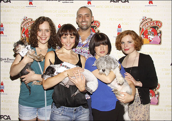 Natalie Smith, Claire Lams, Tom Edden, Jemima Rooper and Suzie Toase, 2012