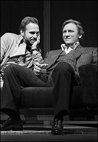 Rafe Spall and Daniel Craig