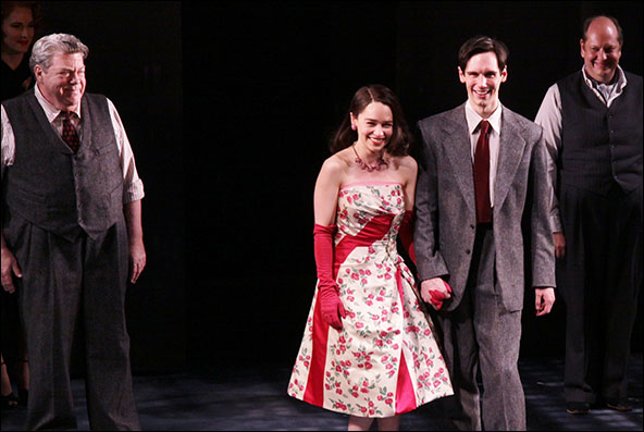 George Wendt, Emilia Clarke, Cory Michael Smith and Tony Torn