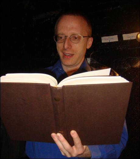 Our musical director Ed Goldschneider picks up Patti LuPone's autobiography. He's clearly riveted!