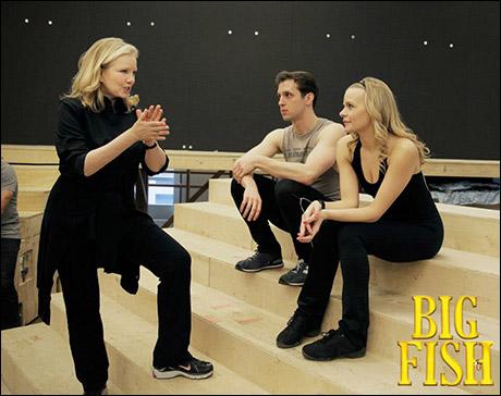 Susan Stroman directing Jason Lee Garrett and Bryn Dowling