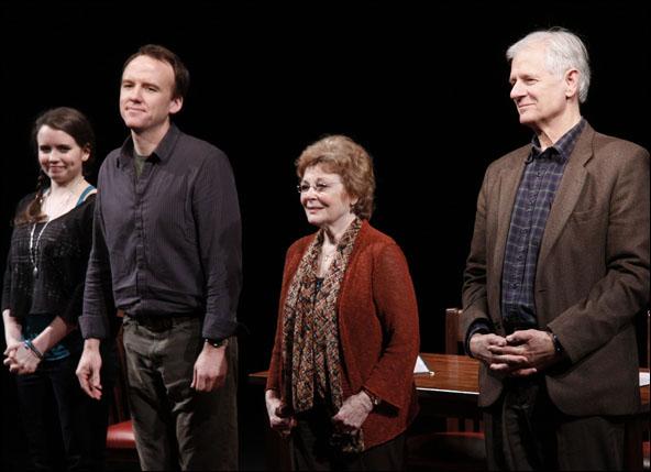Phoebe Strole, David Wilson Barnes, Anita Gillette and Tom Bloom