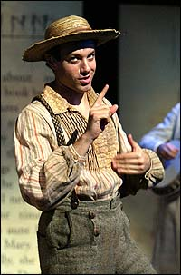 Tyrone Giordano in the Broadway company of <I>Big River</I>