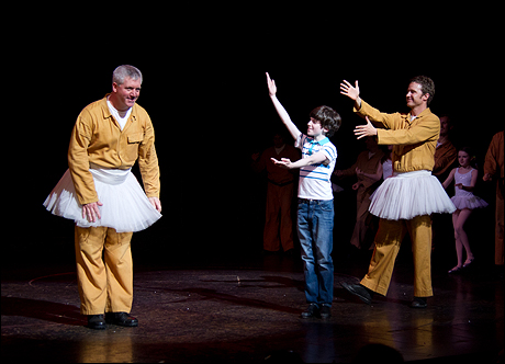 Gregory Jbara, Peter Mazurowski and Will Chase take a bow in Billy Elliot