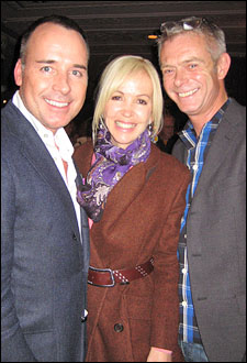 Producers David Furnish and Sally Greene and director Stephen Daldry