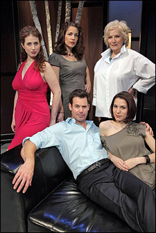Rena Strober, Andrea Grano, Betty Buckley, Tuc Watkins and Christy Carlson Romano in White's Lies