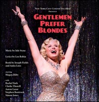 Cover art for the new Encores! concert cast album of <i>Gentlemen Prefer Blondes.</i>