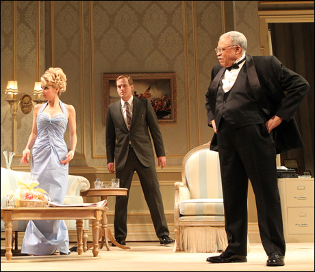 Onstage with Kerry and JEJ.  Come see me, with a handful of new cast members, through Sept. 9.