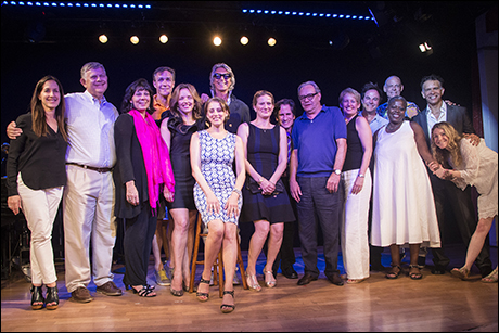 The performers and Playbill/Travel staff