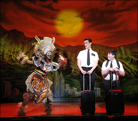 Phyre Hawkins, Mark Evans and Christopher John O'Neill in the first national tour