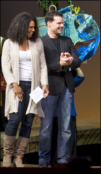 Audra McDonald and Ricky Martin announce the winners