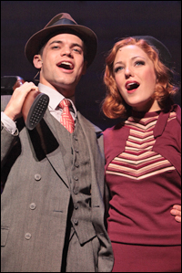 Jeremy Jordan and Laura Osnes in the Asolo Repertory Theatre production