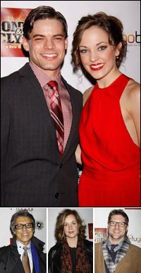 Jeremy Jordan and Laura Osnes; guests Tommy Tune, Margaret Colin and Christopher Sieber