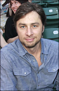 Zach Braff co-hosts the ceremony.