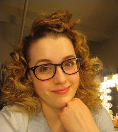 Both shows done! This is what happens when I take the pin curls out. Bahhhh.