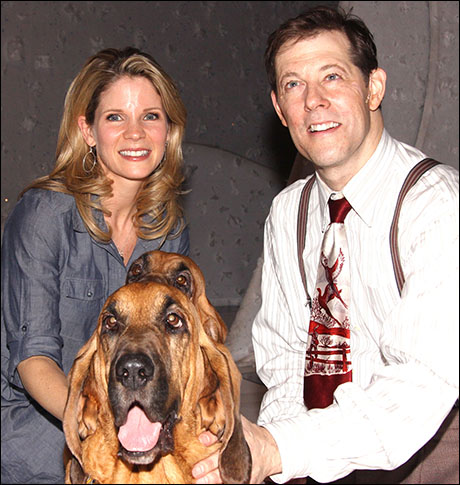 Kelli O'Hara and John Bolton pose with Pete and Lily