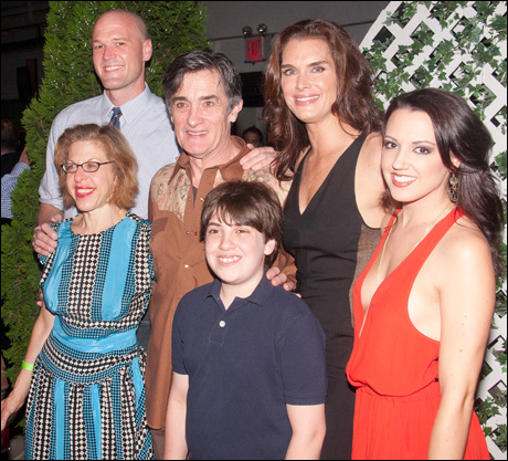 Zachary James, Jackie Hoffman, Roger Rees, Adam Riegler, Brooke Shields and Rachel Potter