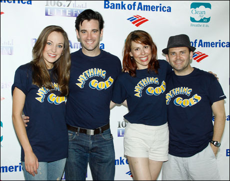 Laura Osnes, Colin Donnell, Tari Kelly and Robert Creighton