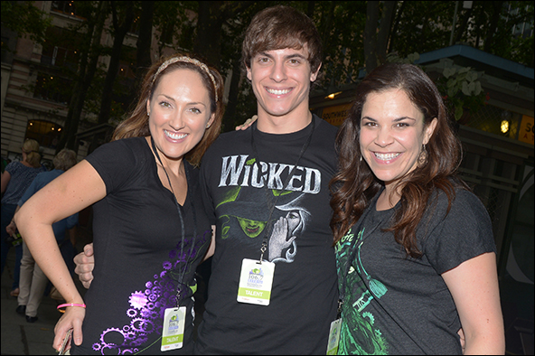 Tiffany Haas, Derek Klena and Lindsay Mendez