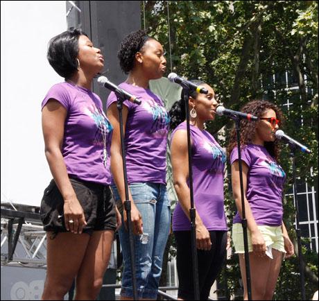 Christina Sajous, Erica Ash, Kyra Da Costa and Crystal Starr