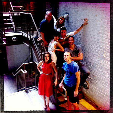 Quick backstage shot of the cast on our way out to the…