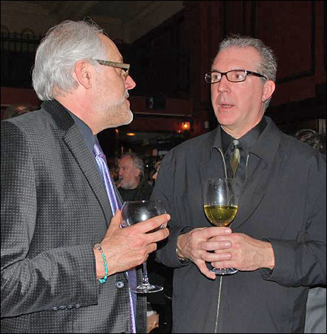 VSC artistic director Chris Hannah and lighting designer Robert Wierzel