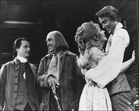William Daniels, Howard Da Silva, Betty Buckley and John Fink in 1776