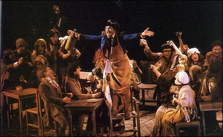 Leo Burmester and cast on Broadway