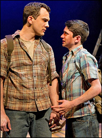 Charlie Brady and Al Calderon in Chris Miller and Nathan Tysen's <i>The Burnt Part Boys</i>.