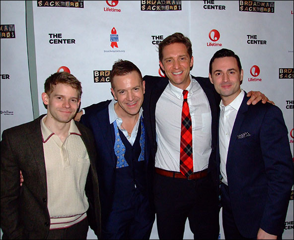 Andrew Keenan-Bolger, Stephen Bienskie, Colin Hanlon and Max von Essen