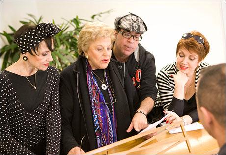 Liliane Montevecchi, Kaye Ballard, Richard Jay-Alexander and Donna McKechnie