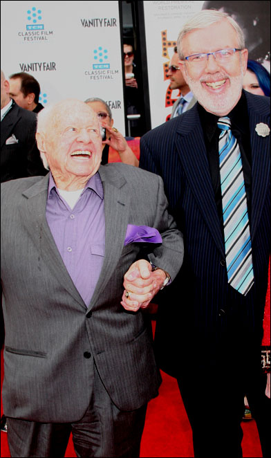 Mickey Rooney and Leonard Maltin