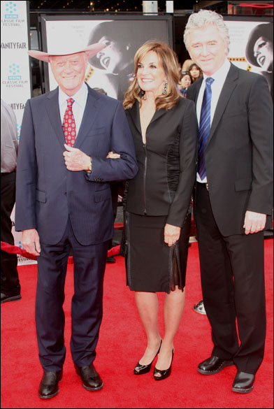 Larry Hagman, Linda Gray and Patrick Duffy