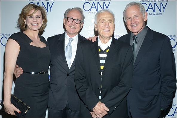 Cady Huffman, Jonathan Hilton, Dick Latessa and Victor Garber