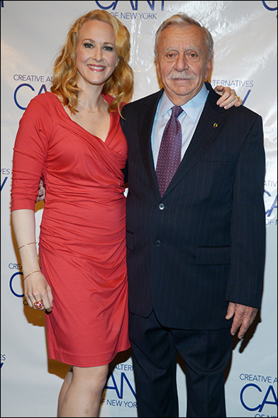 Katie Finneran and Manny Azenberg
