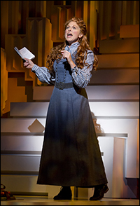 Carolee Carmello as a young Aimee Kennedy, who later used her married names.