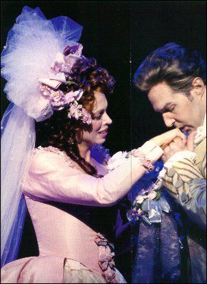Carolee Carmello and Ron Bohmer in The Scarlet Pimpernel